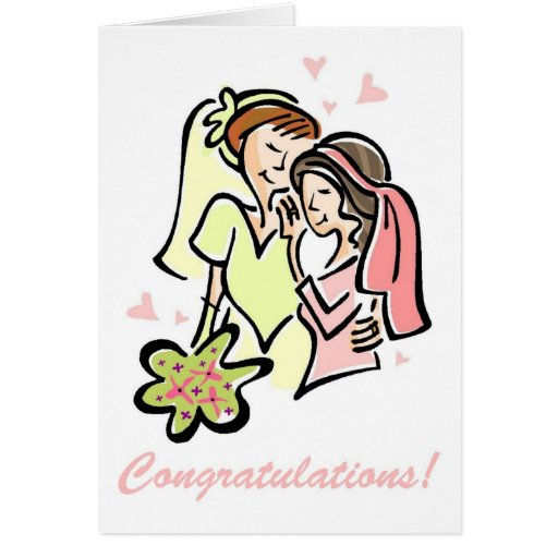 Gay Wedding Card for Women - very pretty!