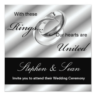 Gay Wedding Ceremony Invitation announcement