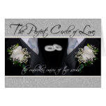 Gay Wedding/Civil Union Announcement in Silver Greeting Card