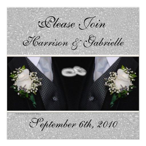 Gay Wedding / Civil Union Custom Invitation