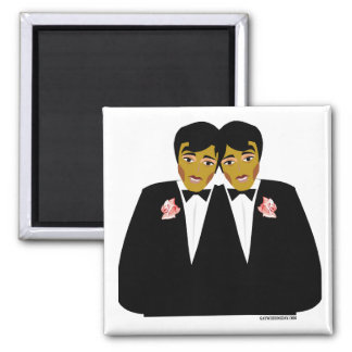 Gay Wedding Favors 2 Inch Square Magnet