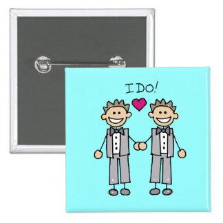 Gay Wedding Favors Pinback Button