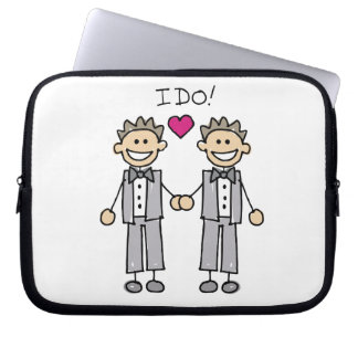 Gay Wedding Groom Computer Sleeve
