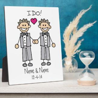 Gay Wedding Groom Plaque