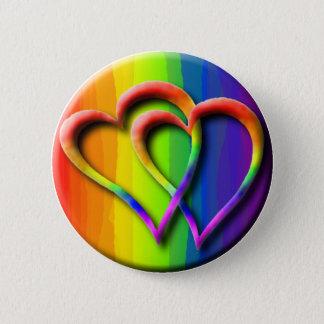 Gay Wedding Hearts Pride Parade LGBT Love Pinback Button