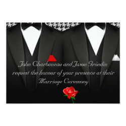 Gay Wedding Invitation Elegant Tuxedos