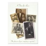 "Gay wedding invitation with vintage portraits 5"" x 7"" invitation card"