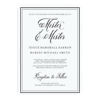 Gay Wedding Invitations | Mister Elegant Script
