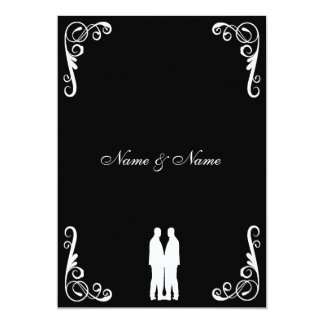 Gay Wedding Invite - Two Grooms