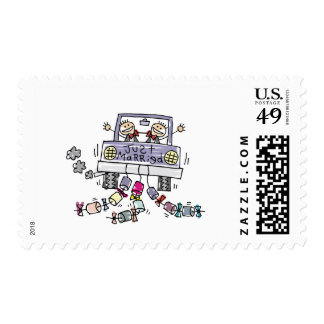 Gay Wedding Just Married Postage