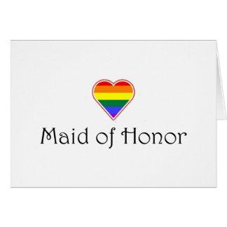 Gay Wedding Maid Of Honor Card