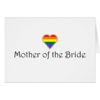 Gay Wedding Mother Of The Bride Card