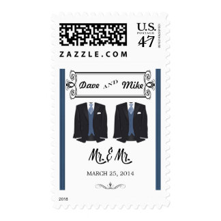 Gay Wedding Postage Stamps