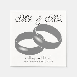 Gay Wedding Rings Personalized Wedding Napkin