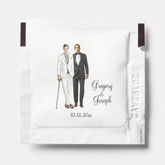 Gay Wedding Sultry Hand Sanitizer Packet