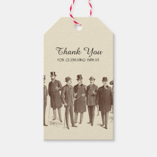 Gay Wedding Thank You Tags Favor Vintage Style
