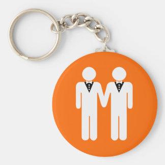 GAY WEDDING TOPPER KEYCHAIN