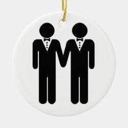 GAY WEDDING TOPPER MEN - png Ceramic Ornament