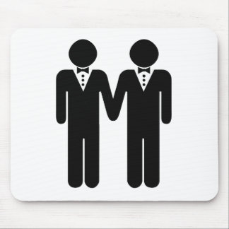 GAY WEDDING TOPPER MEN -.png Mouse Pad
