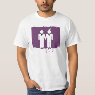 GAY WEDDING TOPPER MEN WHITE -.png T-Shirt