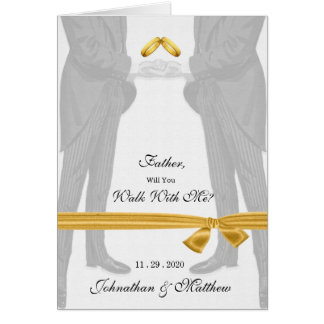 Gay Wedding Walk With Me Request Two Grooms Card