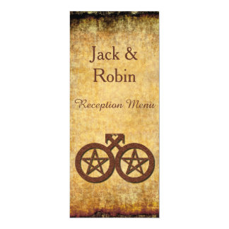Gay Wiccan Rustic Handfasting Reception Menu Card