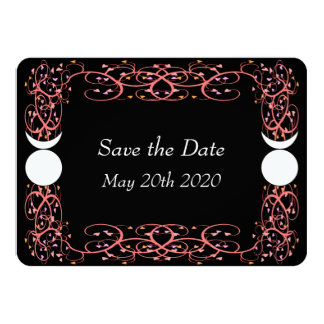 Gay Wiccan Wedding Save The Date Card