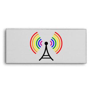 Gay WiFi Rainbow Signal Antenna Envelopes