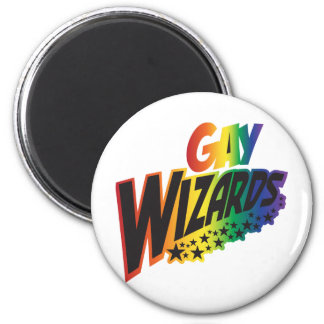 Gay Wizards 2 Inch Round Magnet