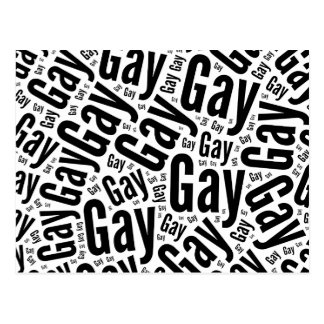 GAY WORD PATTERN - (2).png Postcard