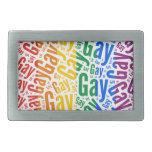 GAY WORD PATTERN COLOR BELT BUCKLES
