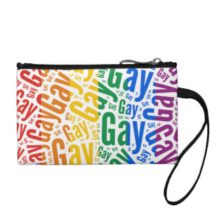 GAY WORD PATTERN COLOR CHANGE PURSES