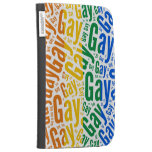 GAY WORD PATTERN COLOR KINDLE COVER