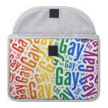 GAY WORD PATTERN COLOR MacBook PRO SLEEVE