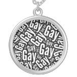 GAY WORD PATTERN WHITE -.png Custom Jewelry