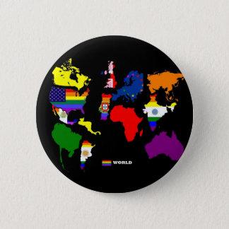 Gay World Pinback Button