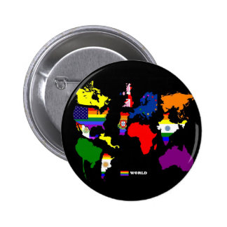 Gay World Pinback Buttons