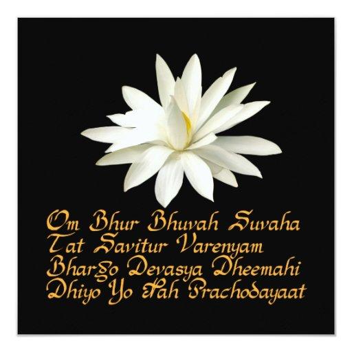 "Gayatri mantra 5.25"" square invitation card"