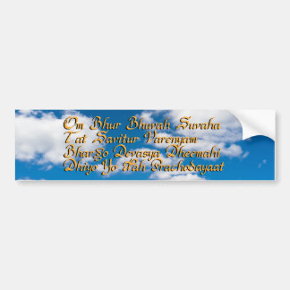 Gayatri mantra bumper sticker