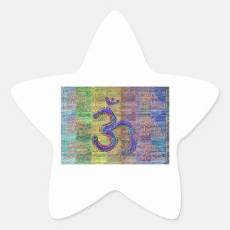 Gayatri-Mantra del OM-Mantra junto Etiqueta