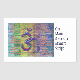 Gayatri-Mantra del OM-Mantra junto Etiquetas