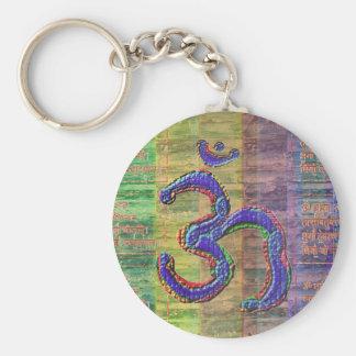 Gayatri-Mantra del OM-Mantra junto Llavero Redondo Tipo Pin