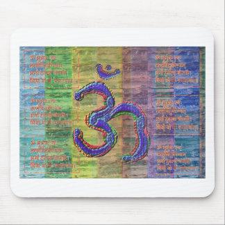 Gayatri-Mantra del OM-Mantra junto Alfombrilla De Raton