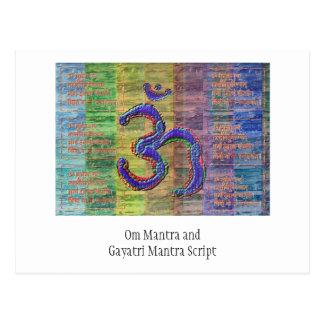 Gayatri-Mantra del OM-Mantra junto Tarjeta Postal