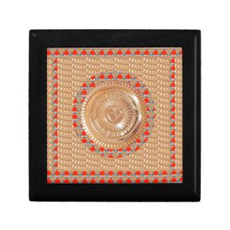 GAYATRI Mantra n OmMantra Symbol Embossed GOLD Gift Box