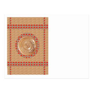 GAYATRI Mantra n OmMantra Symbol Embossed GOLD Postcard