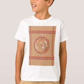 GAYATRI Mantra n OmMantra Symbol Embossed GOLD T-Shirt