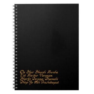 Gayatri mantra notebook