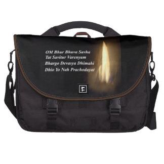 Gayatri Mantra Prayer Om Bhur Bhuvah, Bag Laptop Messenger Bag