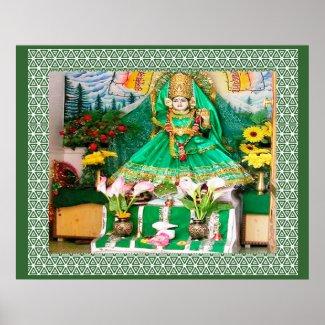 GAYATRI Mata - Images of Nav Durga Print